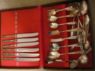 Carmen1927 Stratford Plate Flatware (47 Pieces Plus 14 Miscellaneous) photo