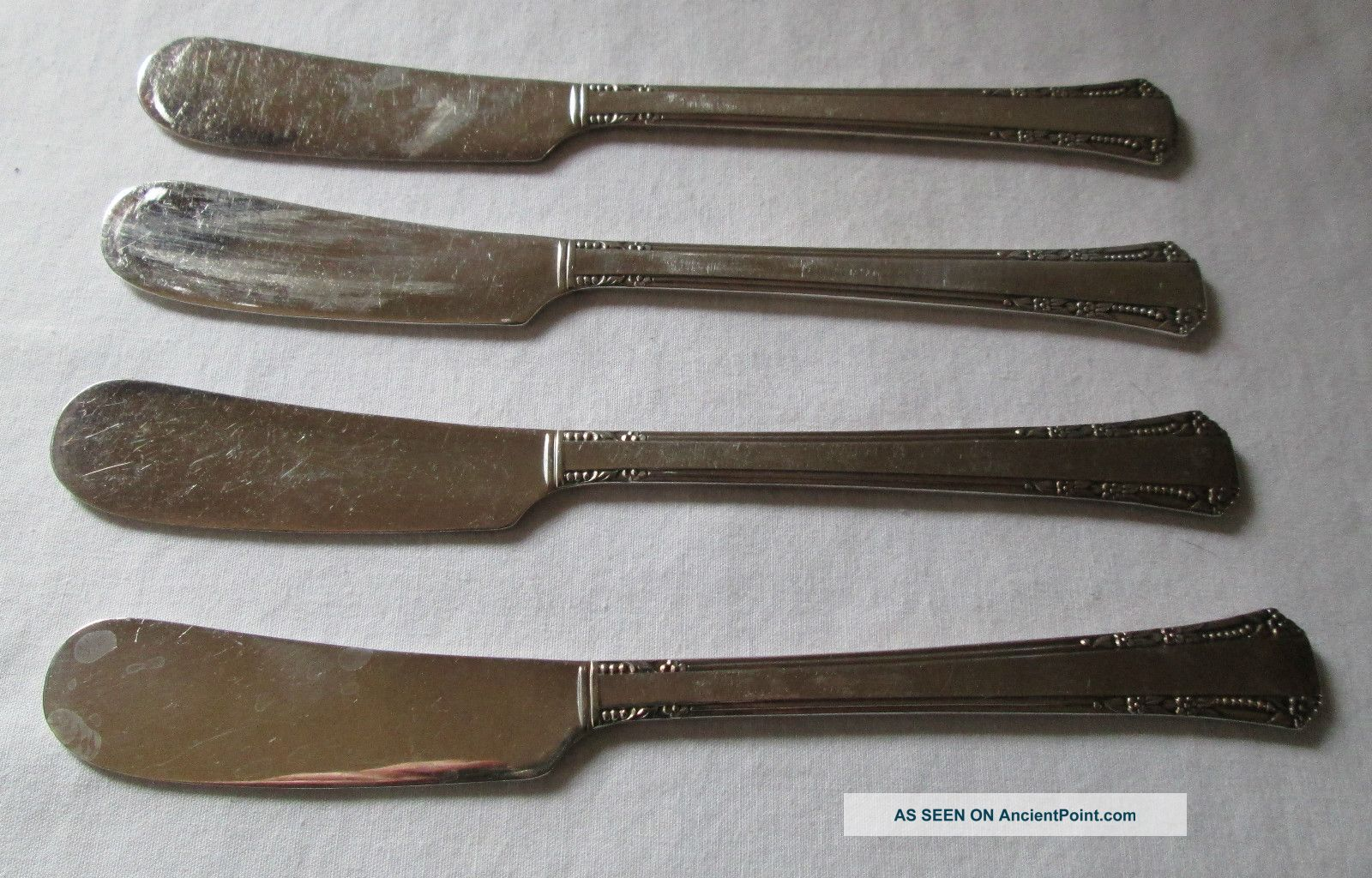 1881 Rogers Oneida Flatware Silverplate Del Mar 4 Butter Spreader Knives Oneida/Wm. A. Rogers photo