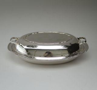A George Vi Silver Entree Dish,  Sheffield 1938 By Gladwin Ltd photo
