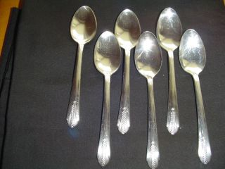 Wm.  Rogers Mfg.  Co.  6 Teaspoons Allure Pattern,  1939 photo