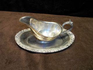 Vintage Guildcraft Silverplate Gravy Boat Server photo