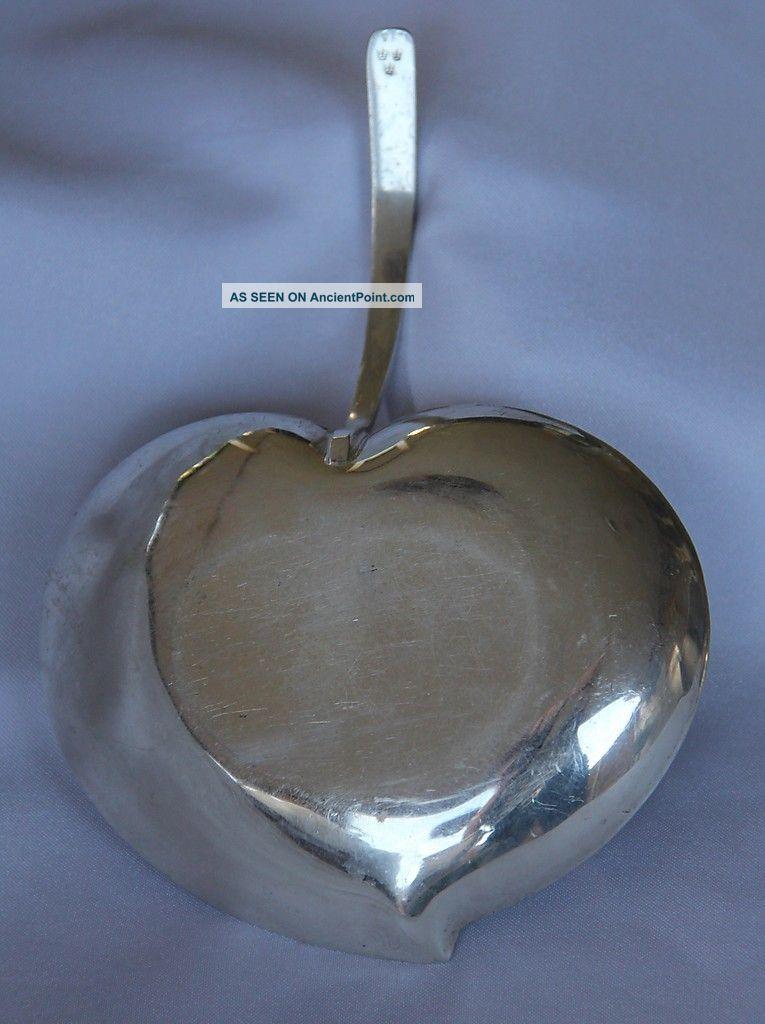 Vintage Swedish Sterling Silver Alloy Apple Dish Plate - Triple Crown Hallmark Silver Alloys (.800-.899) photo