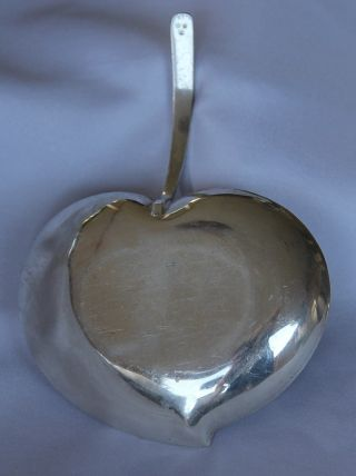 Vintage Swedish Sterling Silver Alloy Apple Dish Plate - Triple Crown Hallmark photo
