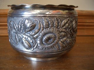 Derby Silver Co.  M & B Sterling Bowl Flowers photo