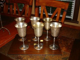 Leonard Silverplate Goblet Set - 6 photo