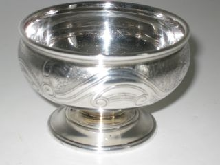Antique/vintage English Menorah Silver Pedestal Cup Mini Bowl Menorah Hallmarked photo