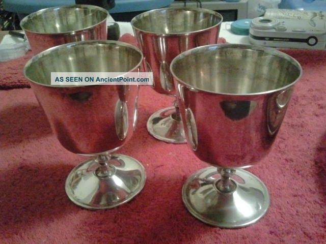 Silver Plated Wine Goblets El Delburti Italy Cups & Goblets photo