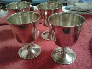 Silver Plated Wine Goblets El Delburti Italy photo