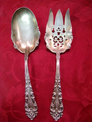 Frank Whiting Co.  Athene Pat ' D 1898 Silver Spoon Fork Set photo