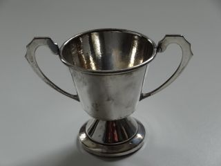 Silver Plate Small Prize Trophy Cup photo