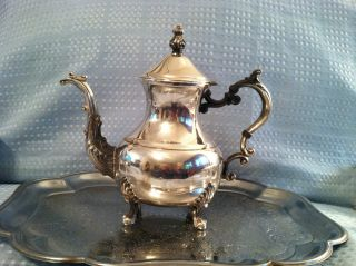Fb Rogers Silver On Copper Coffee/tea Pot 2377 photo