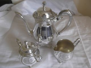 Fabulous U.  S.  A.  Oneida Silversmiths Tea Set - Stunning photo