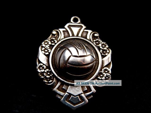 Unusual Rare Victorian Edwardian Football Shield Collectable Antique Watch Fob Pocket Watches/ Chains/ Fobs photo
