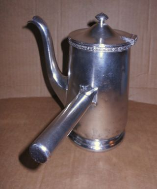Antique International Silver Soldered Hotel The Roosevelt Ny 32oz Coffee Pot photo