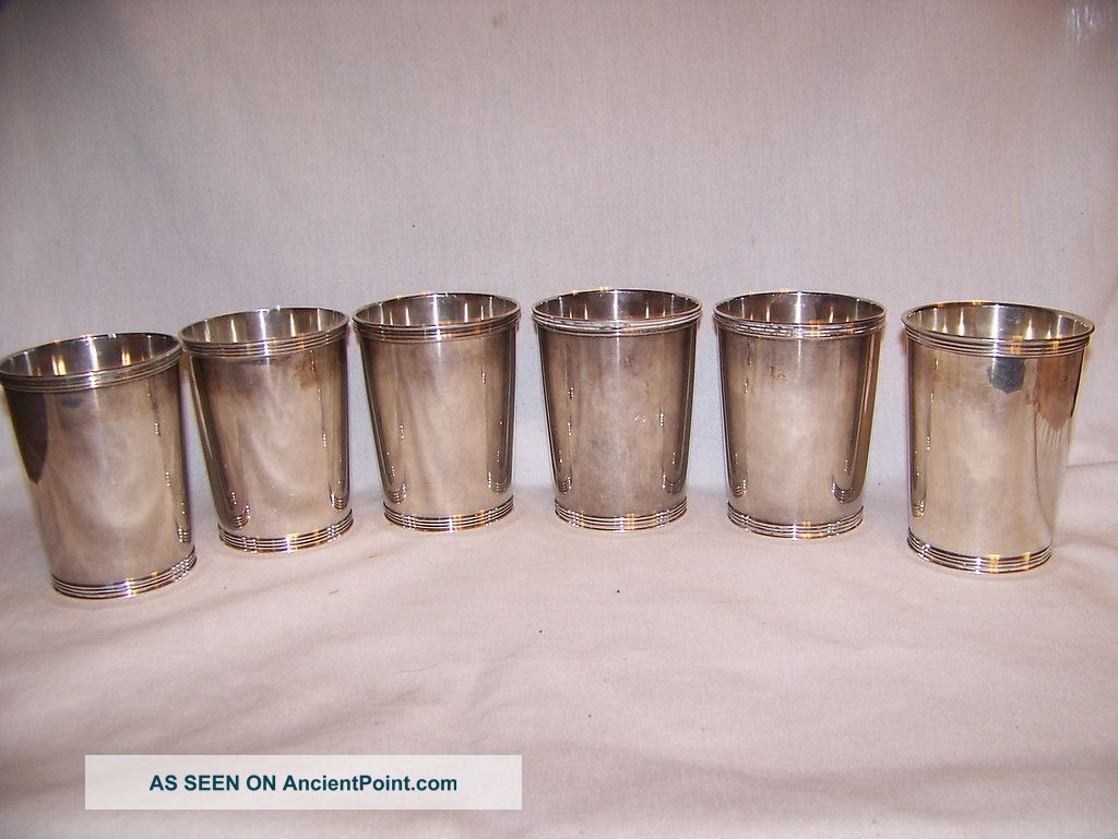 6 Manchester Sterling Mint Julep Cup 772 Grams No Scrap Cups & Goblets photo