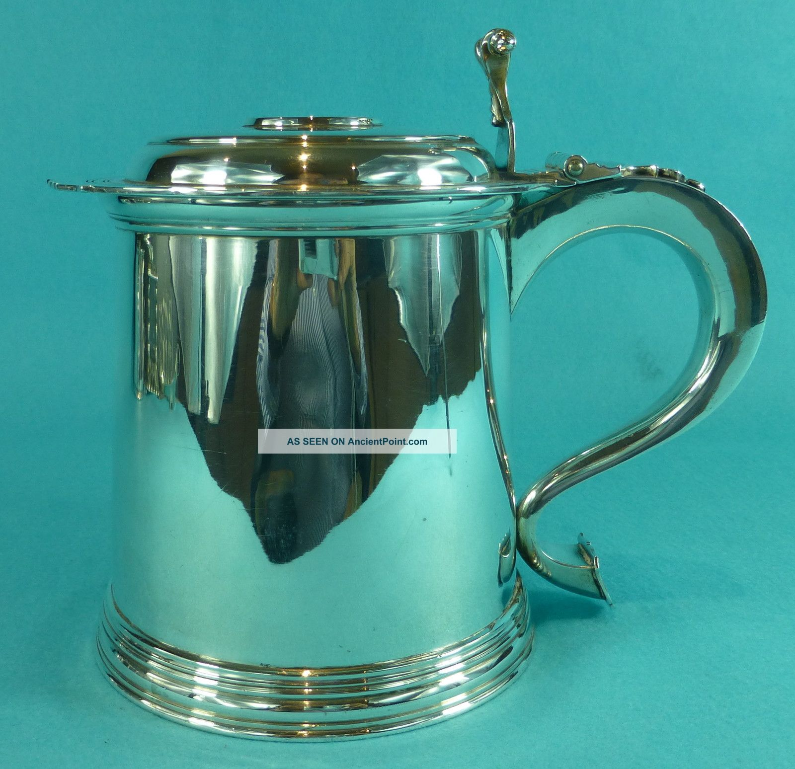 Sterling Silver Lidded Tankard Royal Investiture Prince Charles Of Wales Cups & Goblets photo