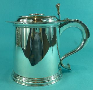 Sterling Silver Lidded Tankard Royal Investiture Prince Charles Of Wales photo