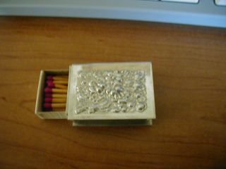 Sterling Stieff Match Box Holder/with Petite Matches photo