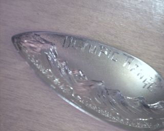Sterling Silver Olympic Range Seattle Wn Vtg.  Pat.  1910 Souvenir Spoon photo