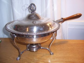 Fine Gorham Vintage Silverplate Chafing Dish Buffet Silver photo