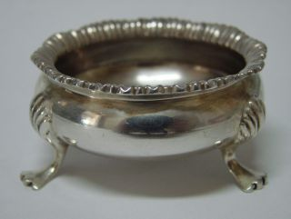 English Sterling Silver Open Salt Cellar Dish Wm Aitken Chester 1900 - 1.  64 Oz photo