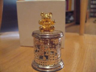 Lunt Silversmiths Tooth Fairy Box With Bear photo