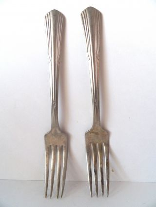 Vintage Monroe Silver Silverplate Flatware Forks photo