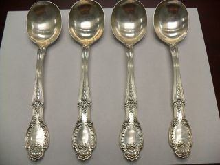 Tiffany & Co.  Sterling Silver Serving Spoons - Set Of 4 photo
