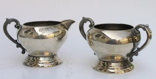 Vtg Sheridan Art Deco/art Nouveau Silver Plate Open Sugar & Creamer 1946 - Present photo