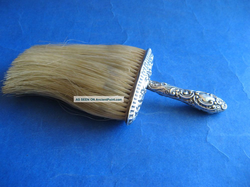 English Sterling Silver Birmingham Small Scrumbs Brush Signed Dated Hallmarked United Kingdom photo