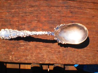 Vintage Sterling Silver Demitasse Spoon Repouse Ornate Rw&s Pat.  1892 See Details photo