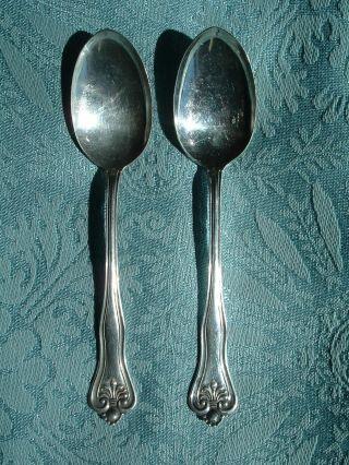 Set Of 2 Demitasse Spoons H & T Mfg.  Co.  Antique Vintage photo