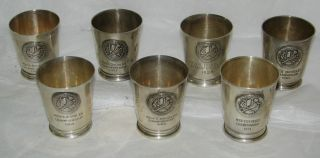 Sterling Silver Badminton Club New York Trophy Cups Tiffany & John Frick photo
