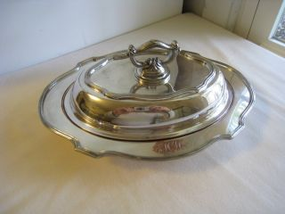 L.  B.  S.  Co.  544 B Sheffield Silverplate Serving Dish W Lid & Hallmarks photo