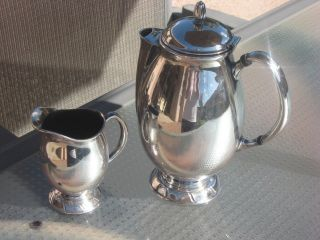 Oneida Community Silverplate Hi - Light Coffee Pot & Creamer 2 Pieces photo