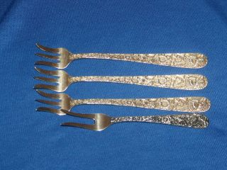 Four - S.  Kirk And Sons Sterling Silver Forks photo