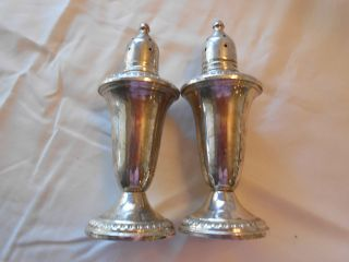 Vintage Empire Sterling Silver Salt And Pepper Shakers Antique Sterling Silver photo