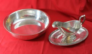Silverplated Gravy / Sauce Boat Serve Just In Time 4 The Holidays photo