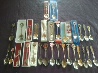 31 Souvenir Spoons Intenational Plus 1981 Royal Wedding Diana photo