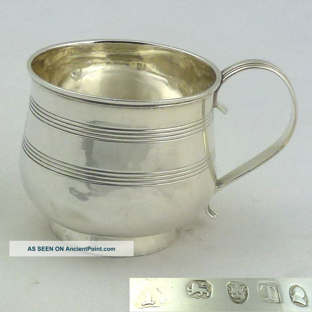 Outstanding Georgian Solid Silver Mug Tankard 1814 Hallmarked Sterling London Nr Cups & Goblets photo