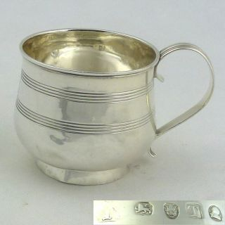 Outstanding Georgian Solid Silver Mug Tankard 1814 Hallmarked Sterling London Nr photo