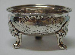 Very Rare American Coin Silver Repousse Open Salt Cellar Dish 1817 - 1853 J.  I.  Cox photo