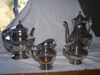 1905 Sheffield Silver 4 Piece Coffee Tea Set photo