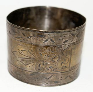 Victorian Sterling Large Napkin Ring photo