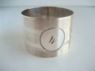 Sterling Silver Napkin Ring Hallmarked Birmingham 1939 No 4 photo