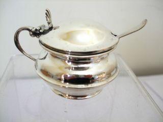 Art Deco Silver Mustard Pot Hm 1936 photo