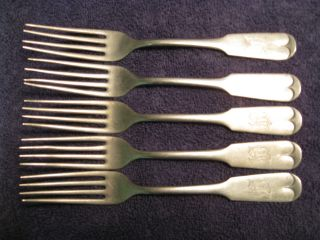Vintage Brazil Silver Forks photo