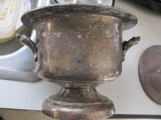 Vintage Silverplate Very Ornate Pot - 8