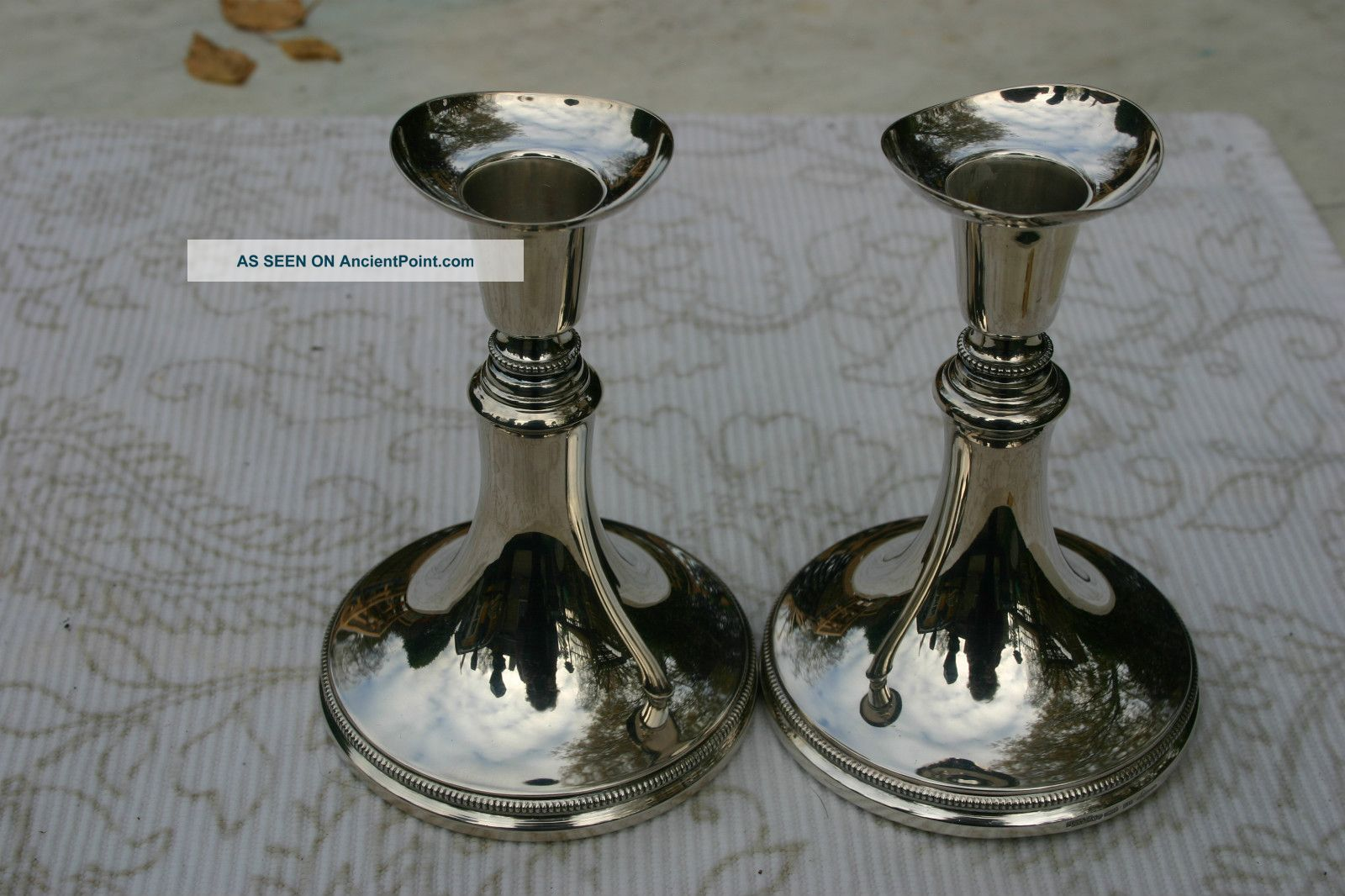 Pair Of Scandinavian 830 Silver Candlesticks. Scandinavia photo