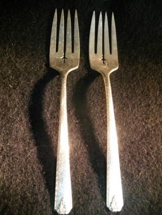 2 Salad Forks - - Prestige Plate Bordeaux photo